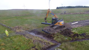 Middle Muir Windfarm Tensar installation